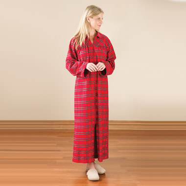 The Lady's Genuine Irish Flannel Zippered Duster