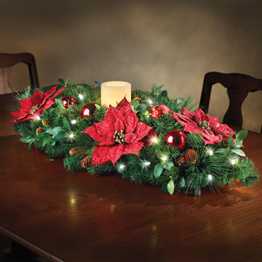 The Cordless Prelit Candle Centerpiece