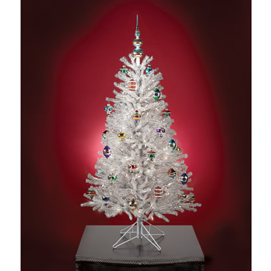 The Classic Silver Tinsel Tree