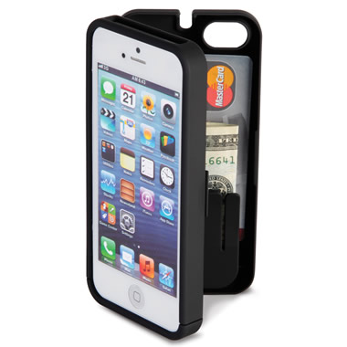 The iPhone 5/5s/SE Polycarbonate Wallet. (Black)