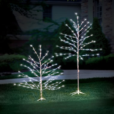 The 4 Foot Prelit Glistening Silver Branch Tree