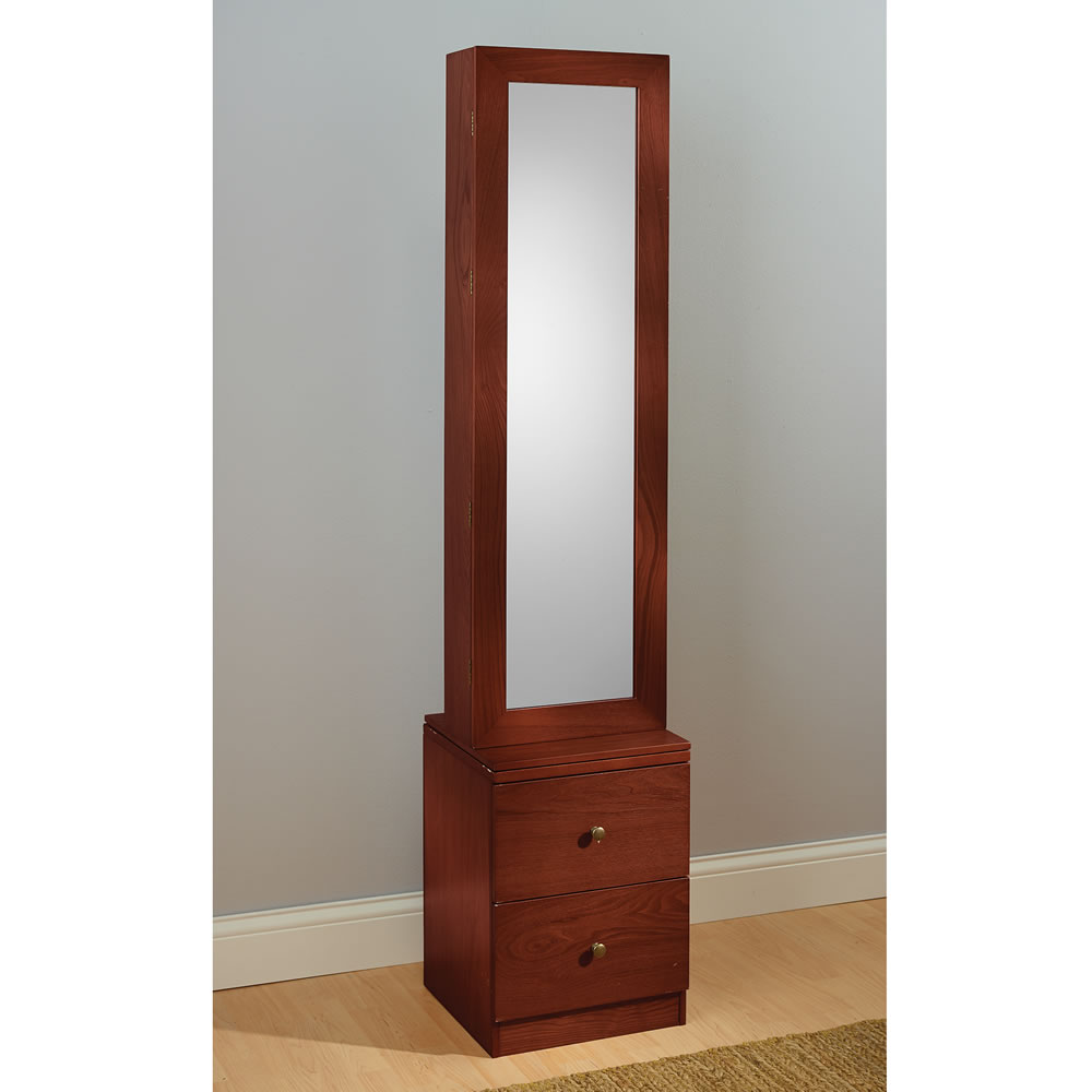 the swiveling jewelry and accessories armoire hammacher schlemmer