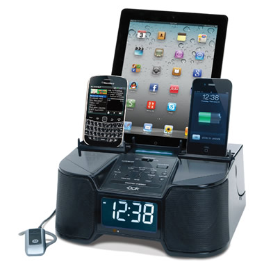 The Six Device Charging Clock Radio