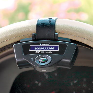 The iPhone Steering Wheel Bluetooth Speakerphone