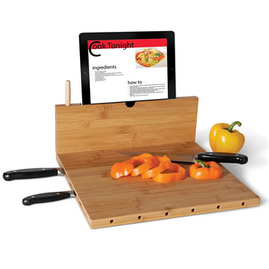 The iPad Recipe Cutting Board