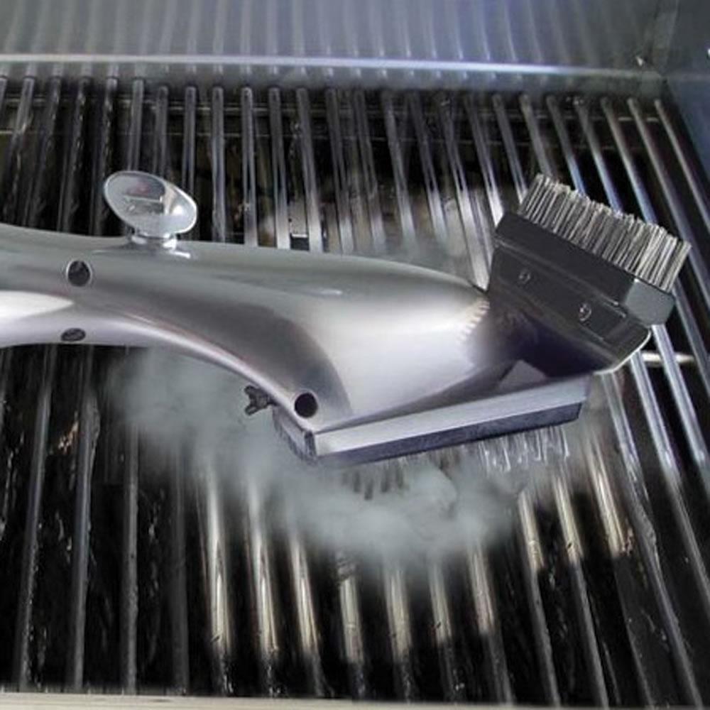 The Steam Cleaning Grill Brush Hammacher Schlemmer