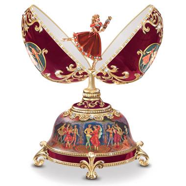 The Dance Of The Sugar Plum Fairy Porcelain Musical Egg