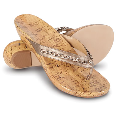 The Lady's Plantar Fasciitis Cork Wedge Sandals
