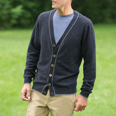 The Gentleman's Washable Cashmere Cardigan