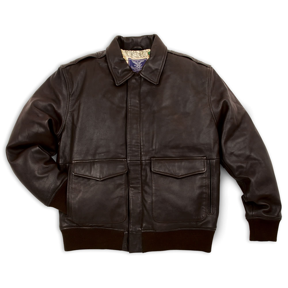 The Army Air Corps Leather Flight Jacket - Hammacher Schlemmer
