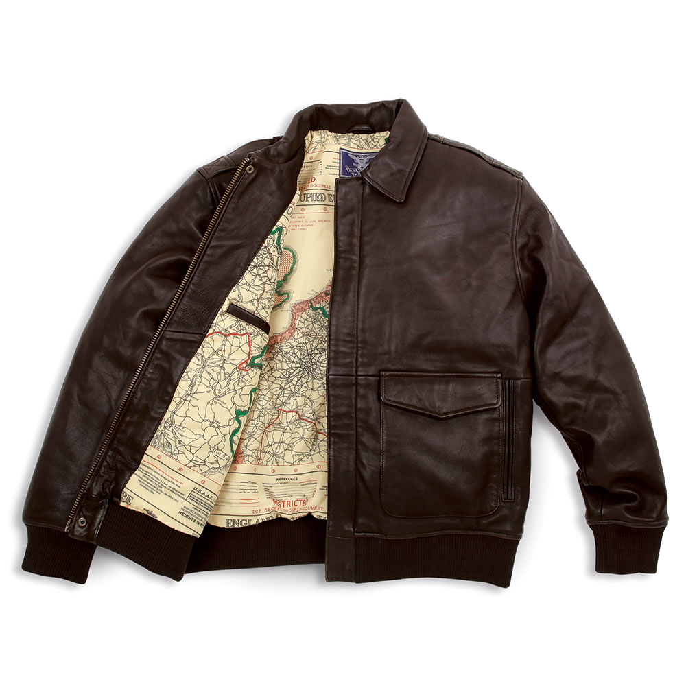 9f37c346a04 The Army Air Corps Leather Flight Jacket - Hammacher Schlemmer