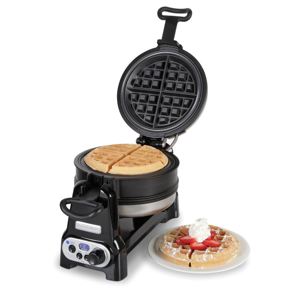 The Double Belgian Waffle Maker Hammacher Schlemmer