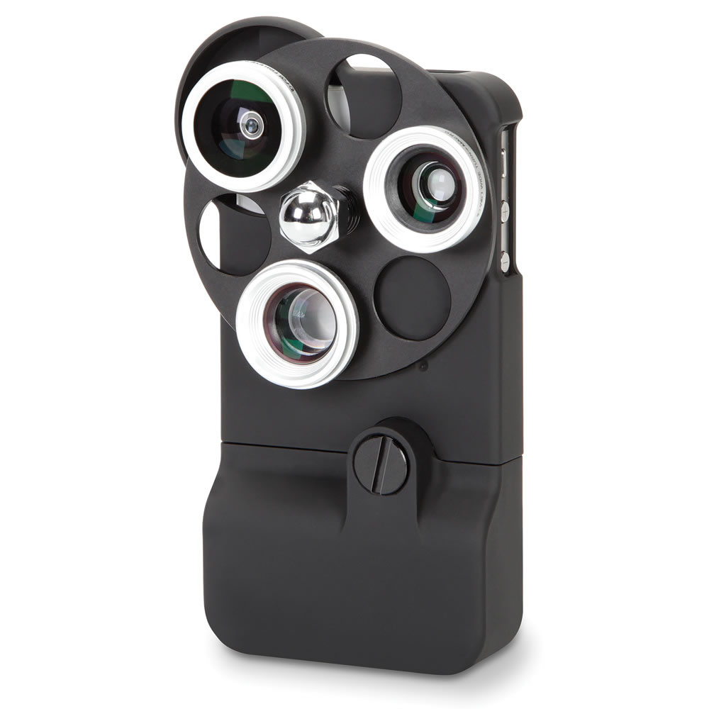The Tricloptic iPhone 4 Camera Lens - Hammacher Schlemmer