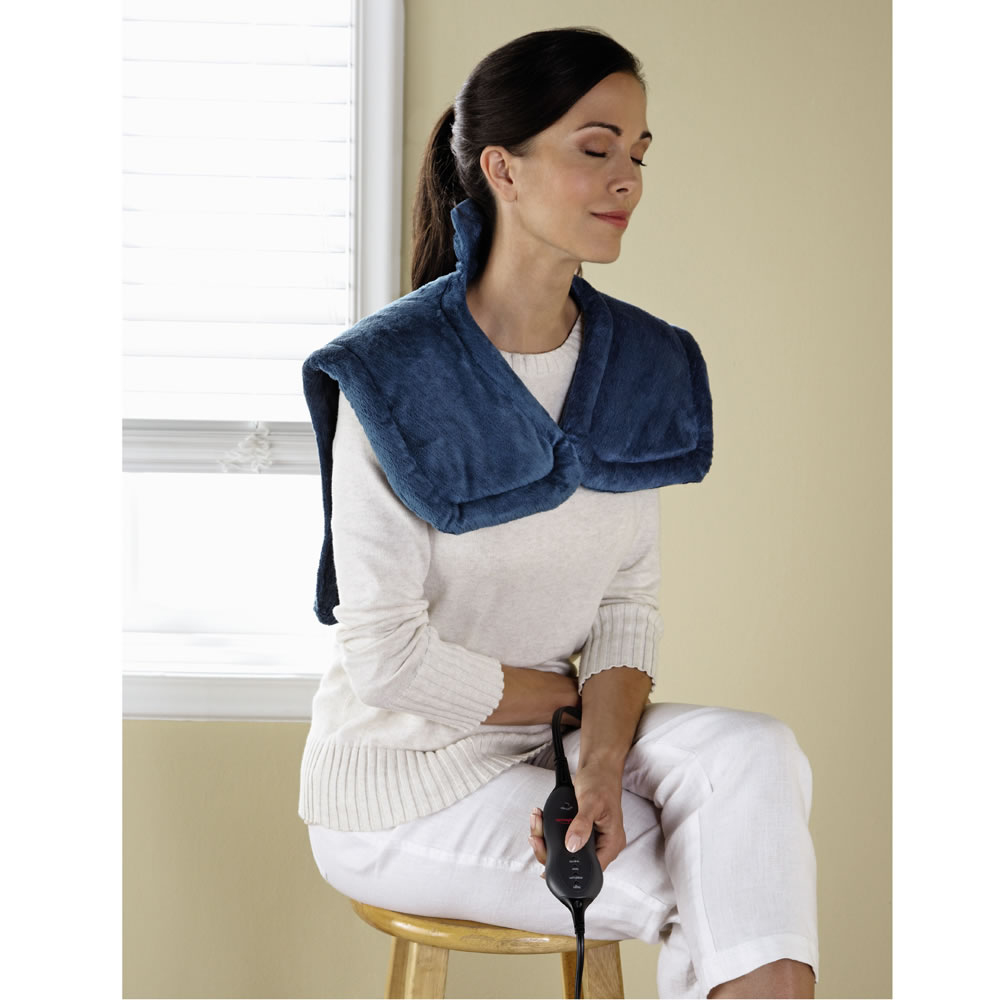 The Neck and Shoulder Heat Wrap Hammacher Schlemmer