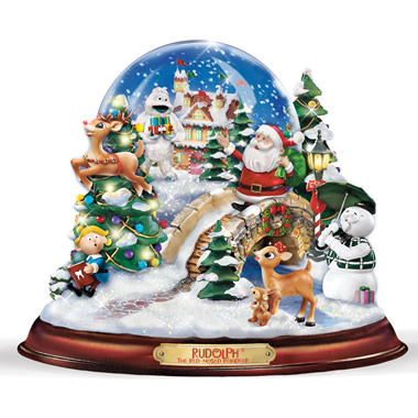 The Rudolph Musical Snow Globe