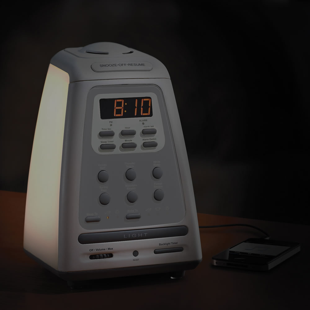 The Peaceful Progression Wake Up Clock Light Sound Aromatherapy Scent bead
