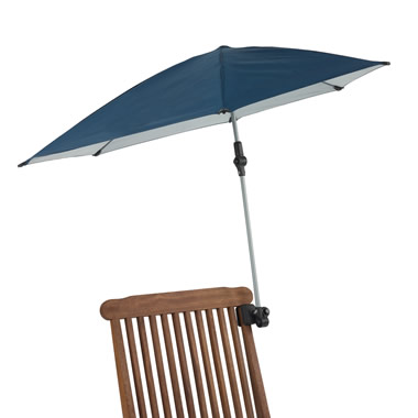 The Portable Clamp-On Sun Umbrella.