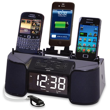 The Four Device Charging Clock Radio