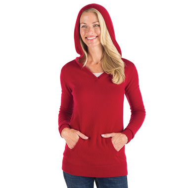 The Lady's Washable Cashmere Hooded Sweatshirt