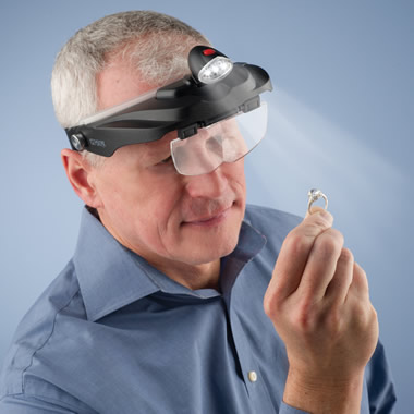 The Jeweler's Lighted Magnification Visor