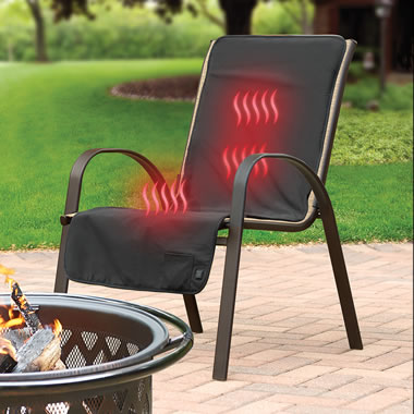 The Cordless Heated Patio Chair Cover.