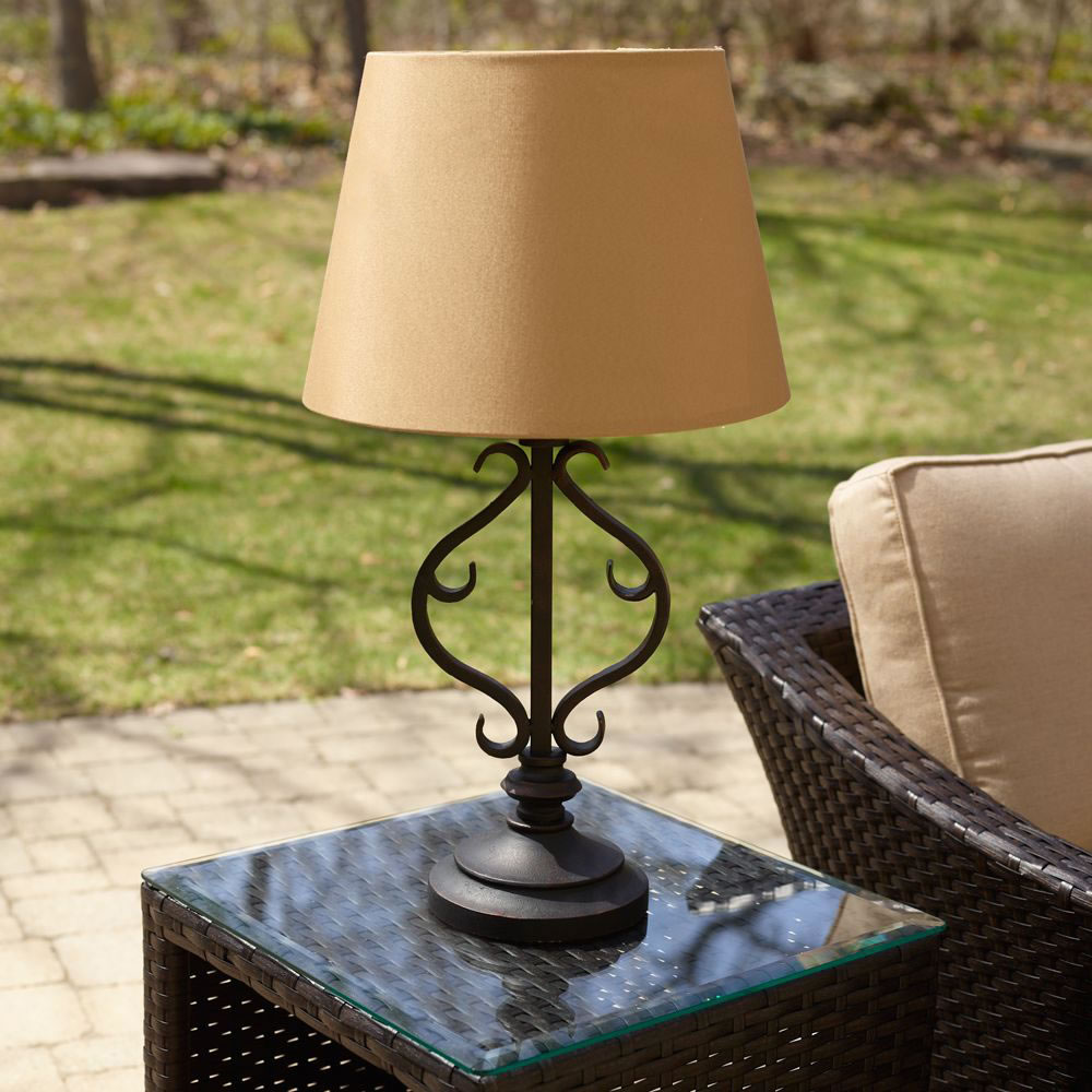 solar powered outdoor table lamp outdoor designs
