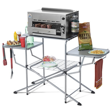 The Portable Stand for the Rapid Steak Searing Grill.