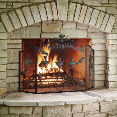 The Halloween Fireplace Screen