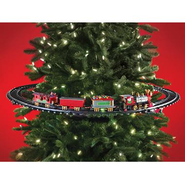 The In-Tree Christmas Train - Hammacher Schlemmer