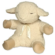 """Winner of a Creative Mind Magazine Preferred Choice Award for Creative Toys, this is the plush lamb that generates eight different sounds to lull infants to sleep. It re-creates the sound of a mother's heartbeat heard within the womb, a gentle rain shower, the calming sounds of ocean surf, the harmonic sounds of whale song, Twinkle-Twinkle Little Star, Rock-a-Bye Baby, a classic lullaby, and a tranquil melody. You can control the volume, and each sound may be set to turn off after 23 or 45 minutes. The lamb attaches to a crib, co-sleeper, or bedpost with a hook-and-loop fastener. Child-safe, it is made of non-toxic and hypoallergenic polyester that can be spot-cleaned (sound box also removes to allow machine washing). Includes two AA batteries. Newborns and up. 10 1/2"""" H x 8 1/2"""" W x 6"""" D. (1 1/4 lbs.)u000Du000Au000Du000Au000Du000AA personalized version of The Award Winning Infant's Sleep Sound Lamb is available here.u000Du000A u000Du000Au000Du000Au000Du000Au000Du000A.testimonia"""