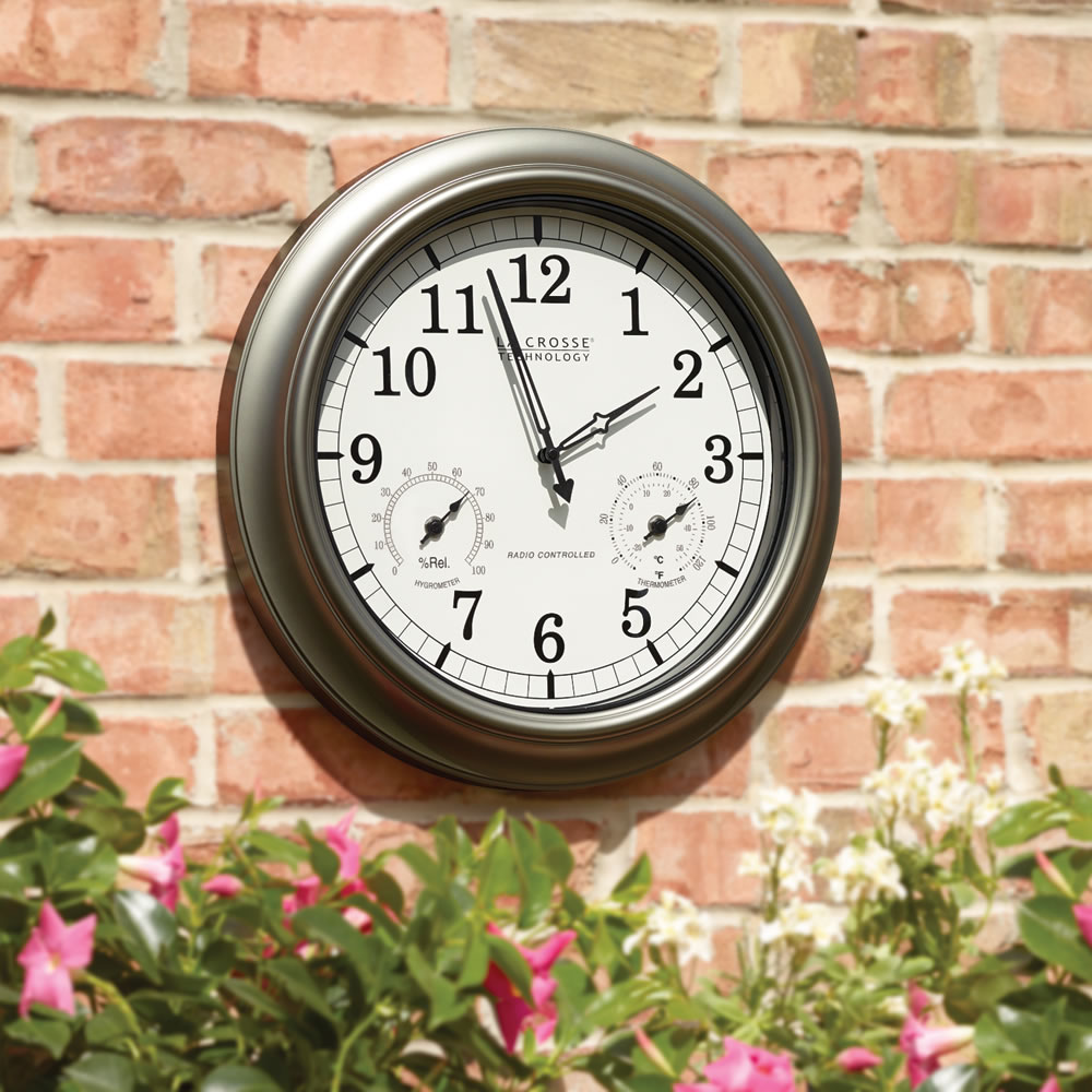 The Always Accurate Outdoor Clock.