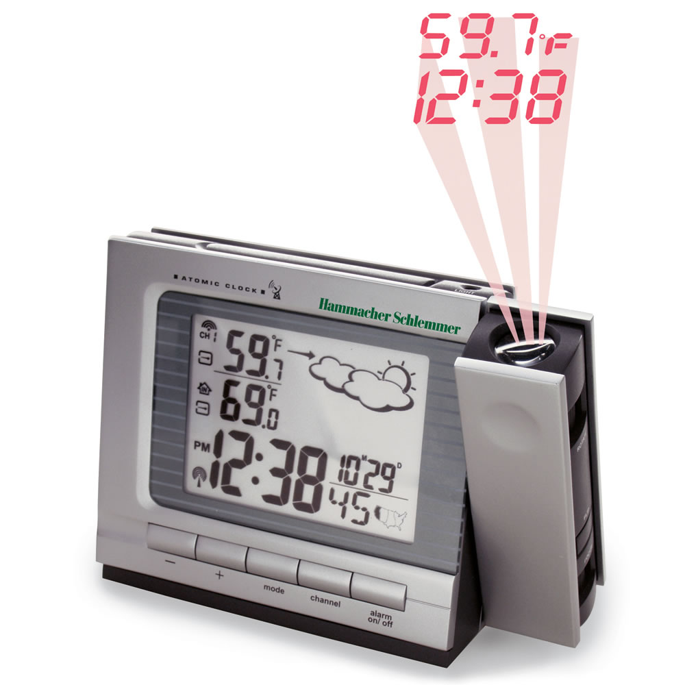 The Superior Projection Clock Hammacher Schlemmer