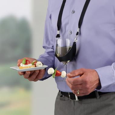 The Buffet Eater's Wine Glass Holder.
