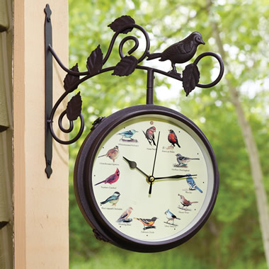 The Serenading Songbirds Outdoor Clock