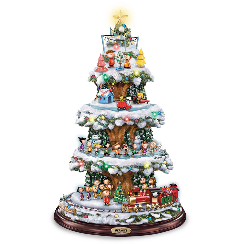 Peanuts Animated Christmas Tree Hammacher Schlemmer Ornament