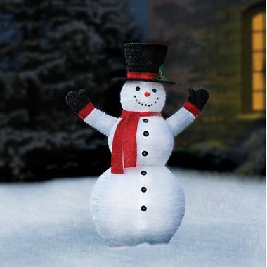 The Prelit Pop Up Snowman