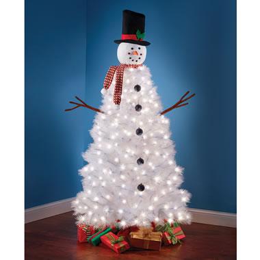 The Illuminated Snowman Tree