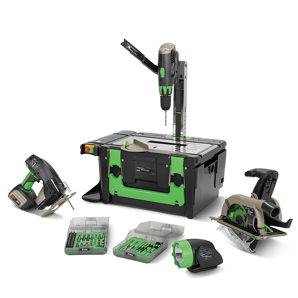 The Eight In One Portable Workshop - Hammacher Schlemmer