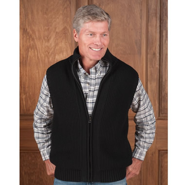 The Cashmere Lined Wool Body Warmer.