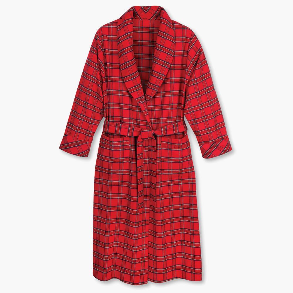 0b8ae5fc5d38 Genuine Irish Flannel Robe - Hammacher Schlemmer