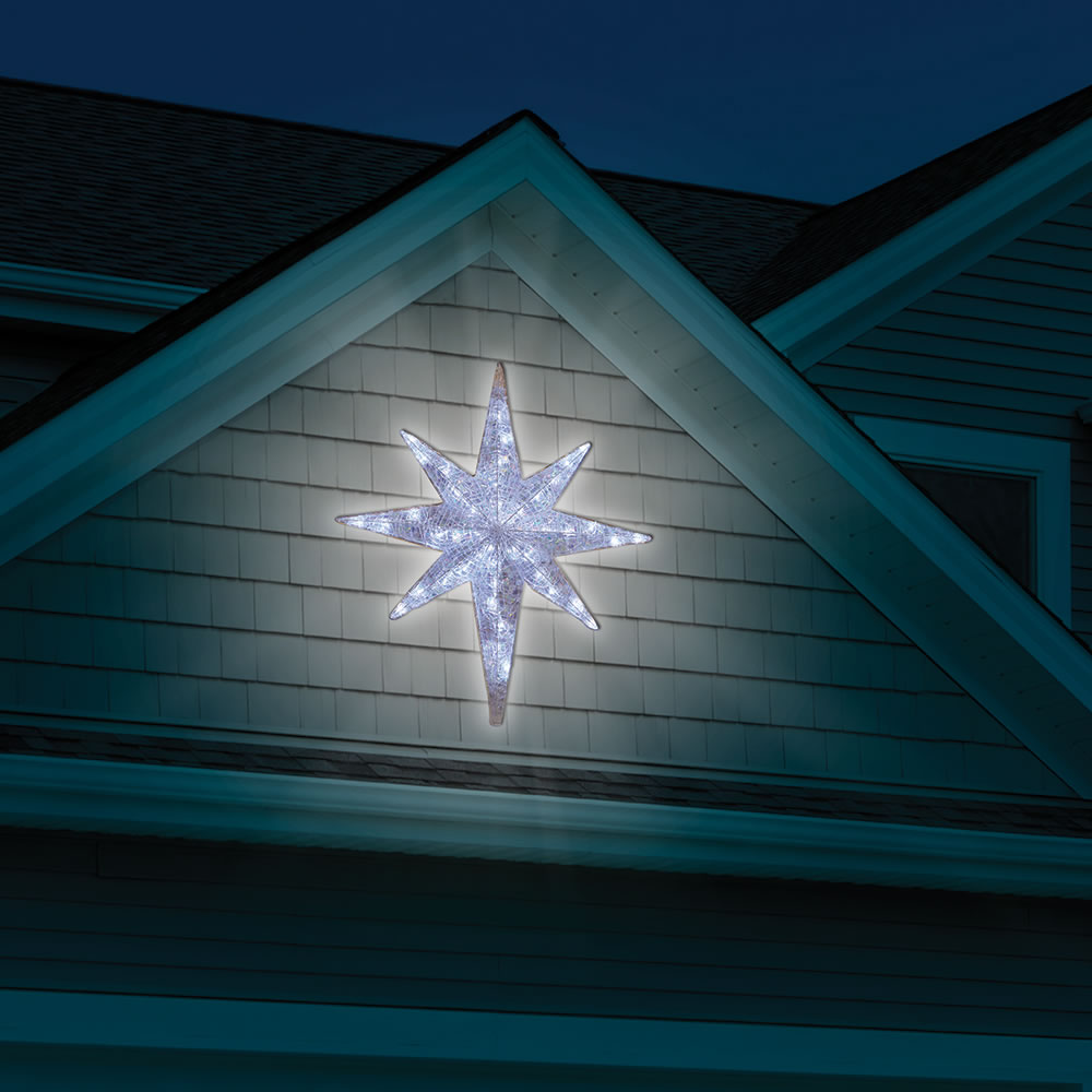 Star Of Bethlehem Outdoor Light The prismatic star of bethlehem light show hammacher schlemmer the prismatic star of bethlehem light show workwithnaturefo