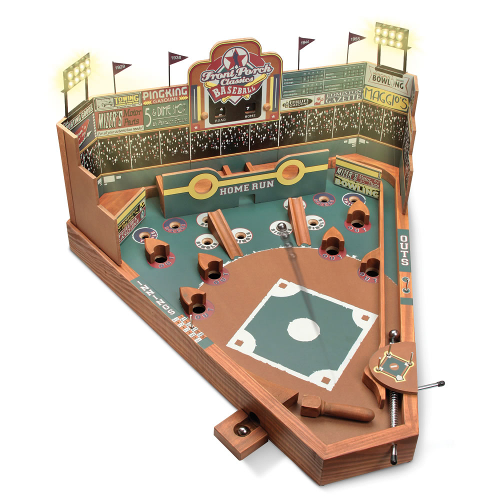 the classic pinball baseball game hammacher schlemmer