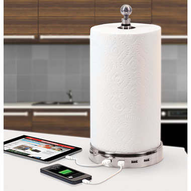The Four Device Charging Paper Towel Holder.
