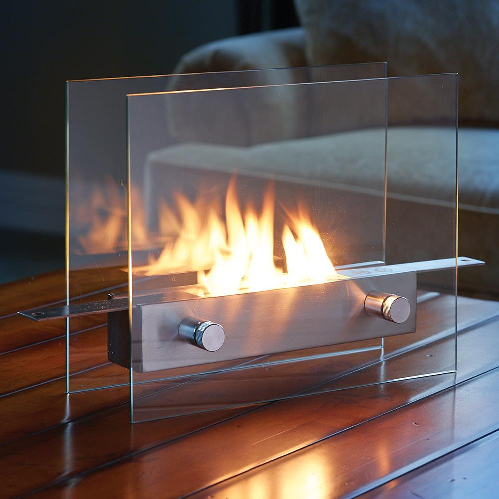 The Portable Tabletop Fireplace Hammacher Schlemmer