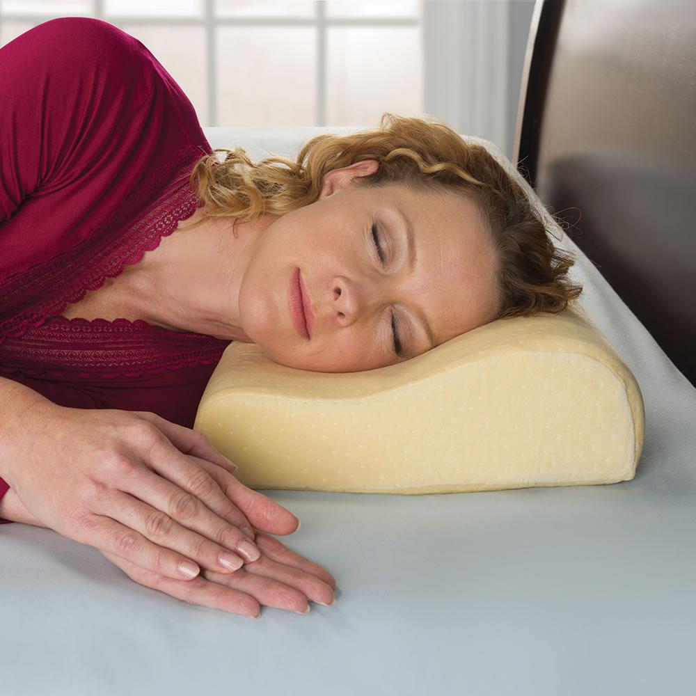 The Neck Pain Relieving Memory Foam Pillow Hammacher