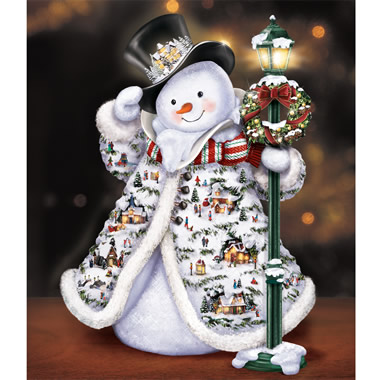 The Thomas Kinkade Faux Fur Snowman