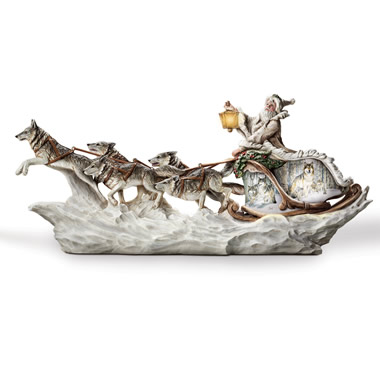 The Al Agnew Sculpted White Wolf Sleigh.