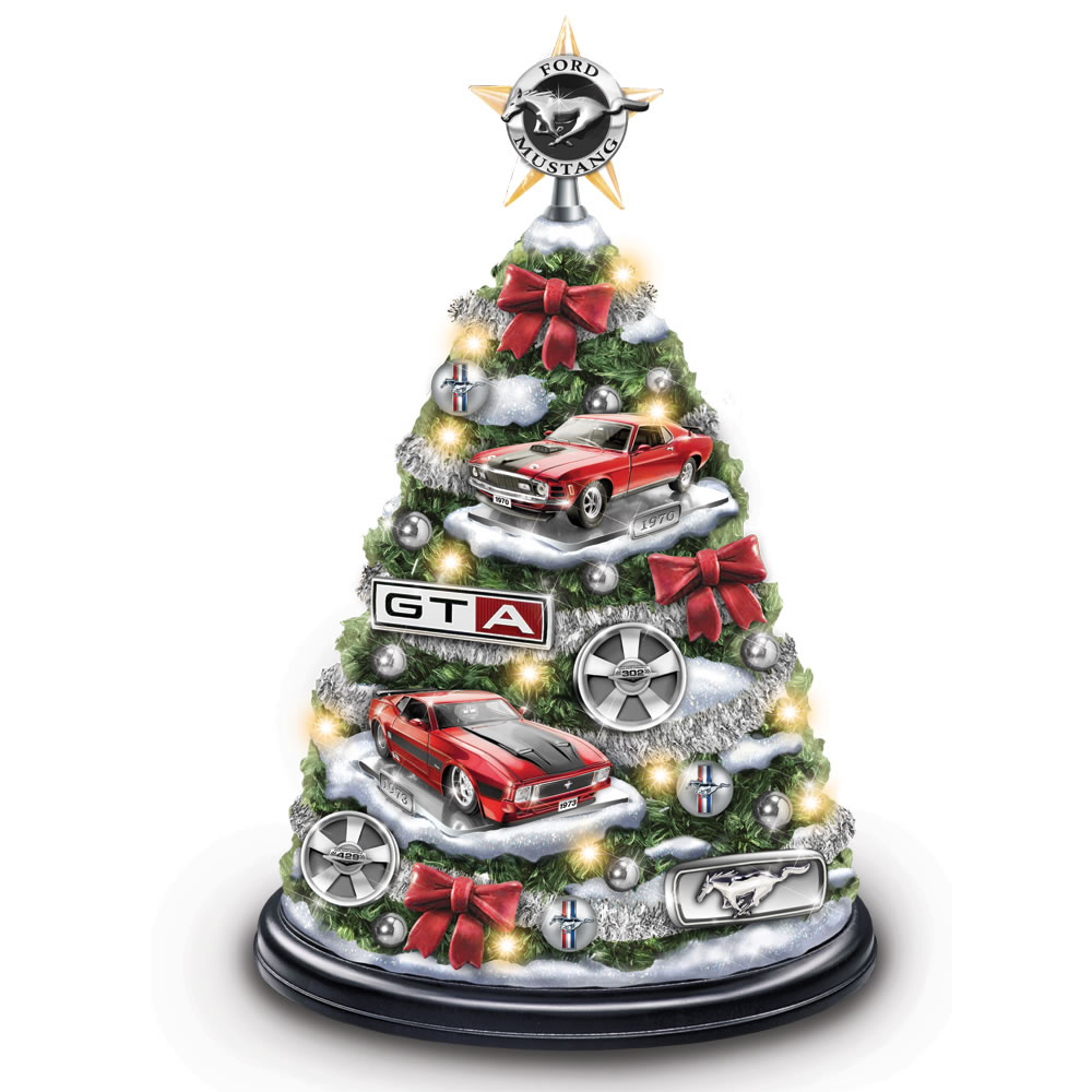 Car Christmas Tree Topper.The Illuminated Ford Mustang Christmas Tree