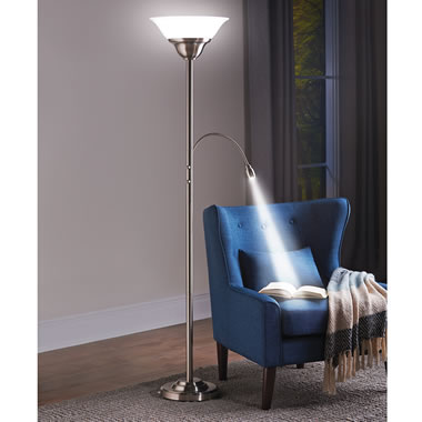 The Brightness Zooming Natural Light And Torchiere Lamp.