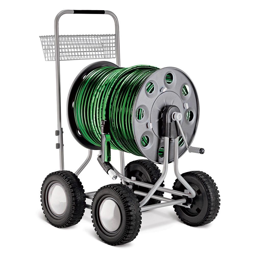 The best hose reel cart hammacher schlemmer for Strongway garden hose reel cart